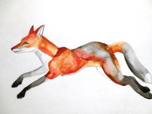 West Elm Fox: It sold out so I gave myself the challenge to replicate it. Not to make profit in any way, just as an exercise. I keep it here because it's what brought me back into drawing.