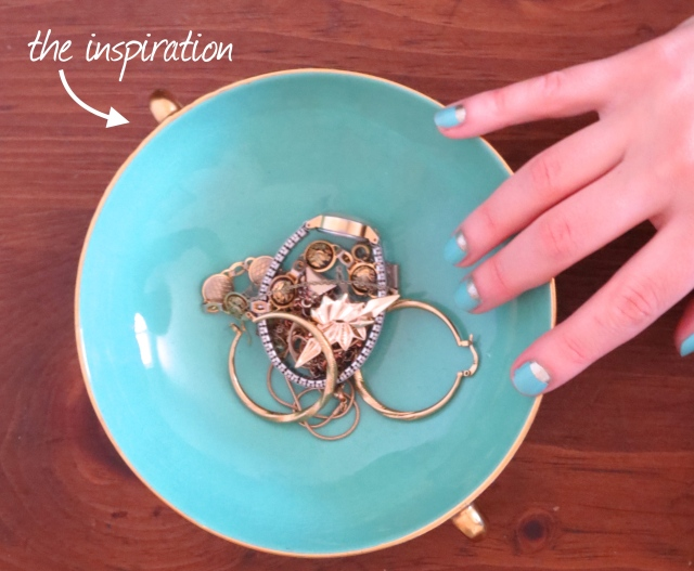 Tiffany blue + gold half moon nails