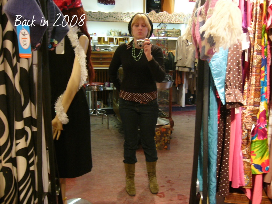 Hanging out at the old vintage shop