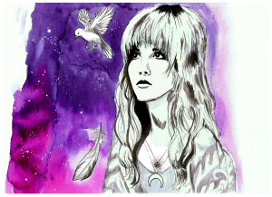 stevie nicks watercolour littlekokomo.com