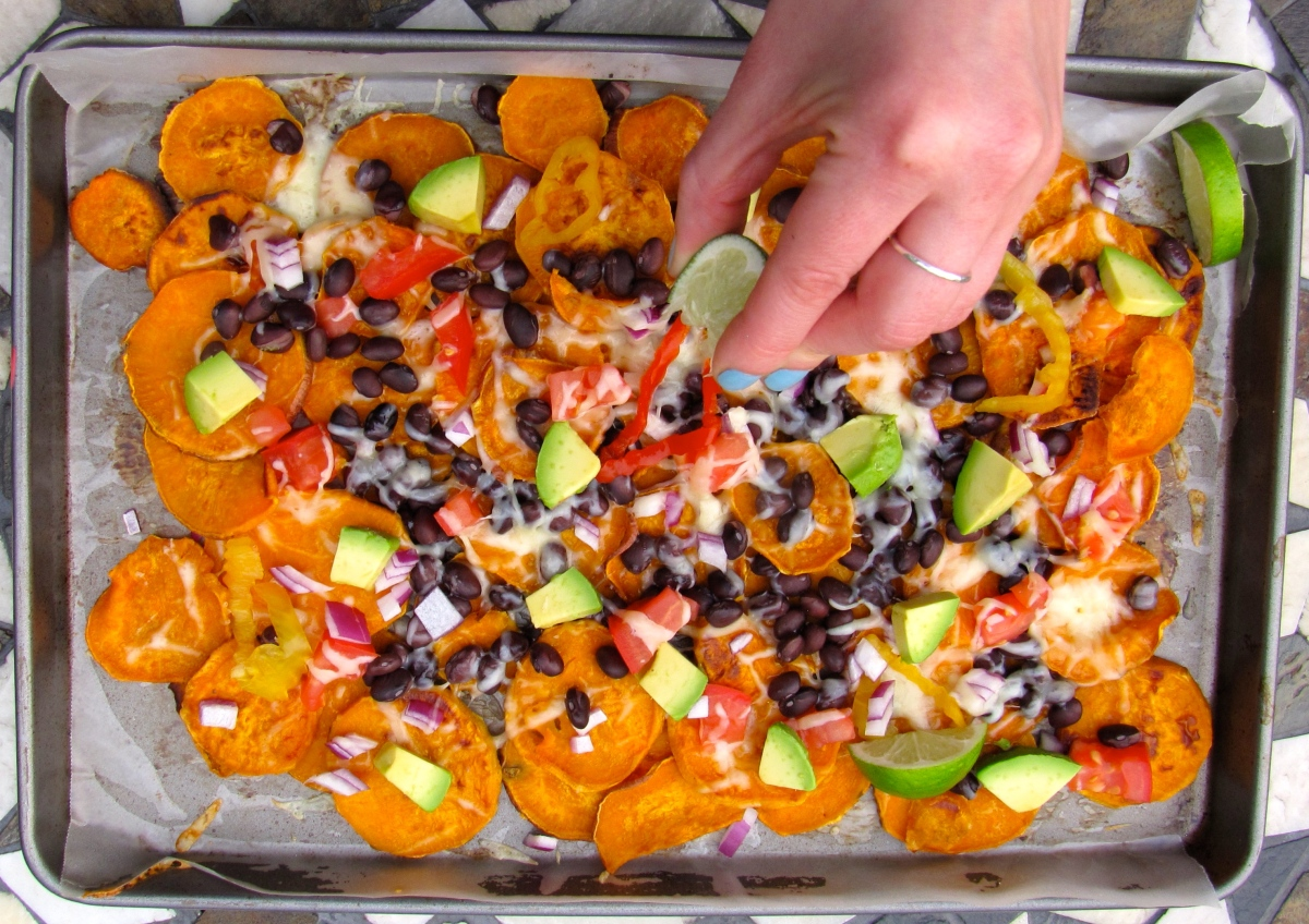Littlekokomo.com sweet potato nachos
