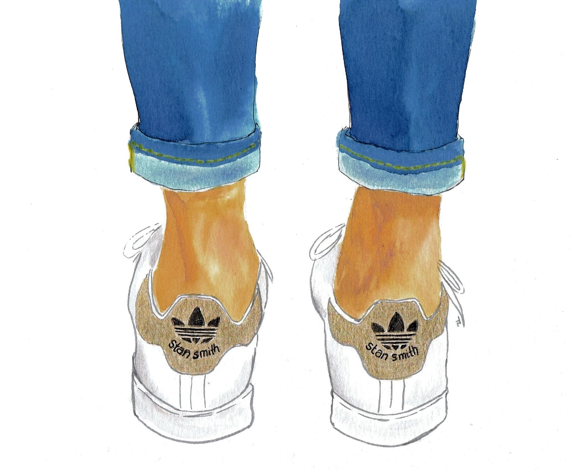 new concept a938b fa294 Not just a fashion girl thing: Stan Smith Adidas, illustrated
