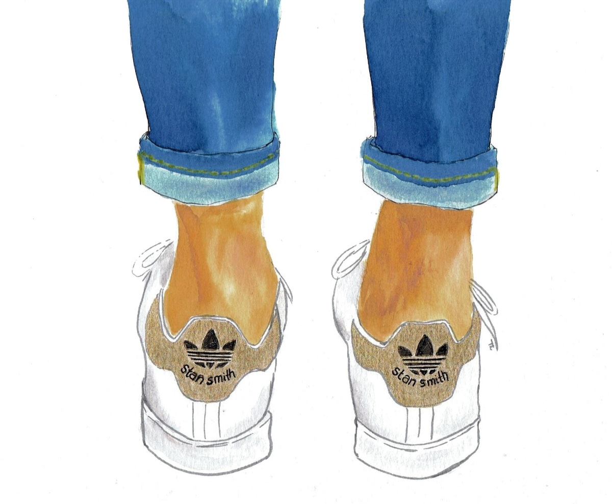 stan smith adidas illustration by littlekokomo.com