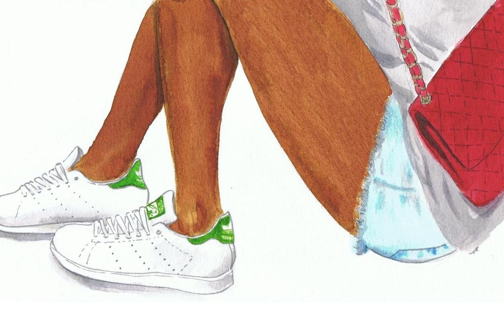 stan smith adidas illustration by littlekokomo.com