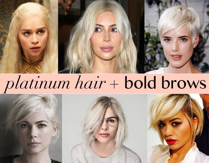 platinum hair bold brows littlekokomo.com
