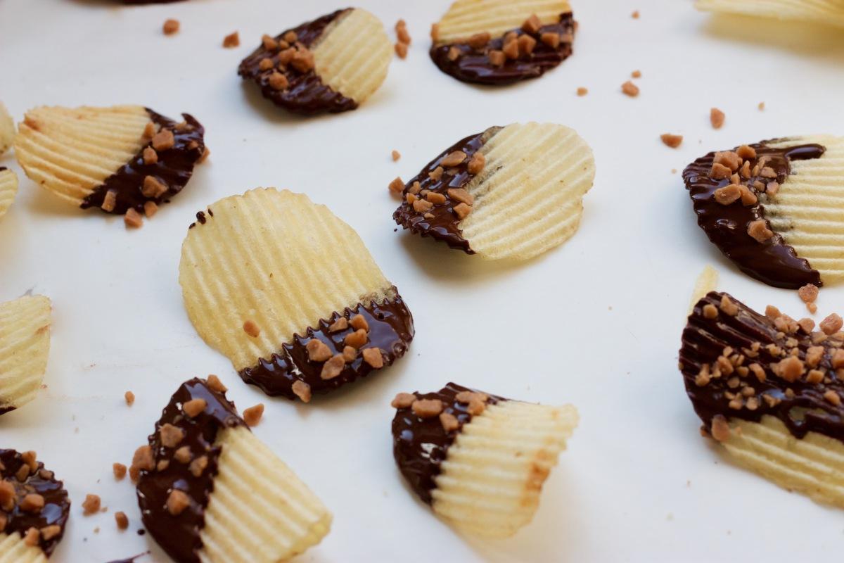 chocolate dipped chips littlekokomo.com